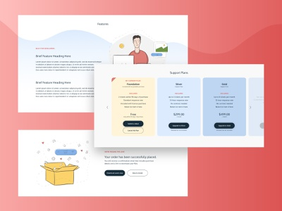 CartThrob Components levels plans product ui illustration