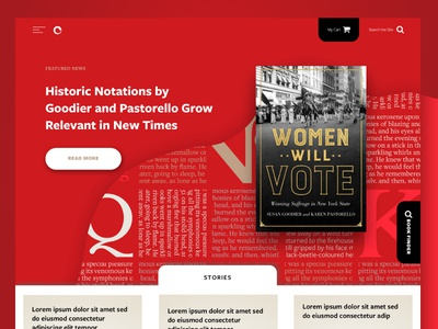 Ui Exploration homepage responsive website publishing books letters type ux blog press red ui