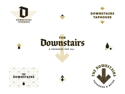downstairs 01 vector lettering illustration icon type branding blackletter typography logo