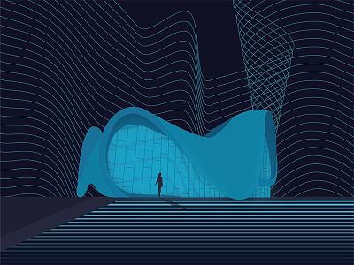 Heydar Aliyev Center blue girl center aliyev heydar azerbaijan baku