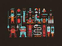 Unknown pictograms (Tile pattern)
