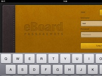 eBoard app for iPad - with keyboard