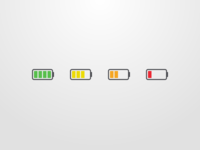 Battery Indicator Icon Set