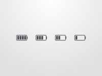 Battery Indicator Icon Set - Without Colour