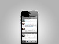 Unnamed app.net ios app iphone 5 product shot