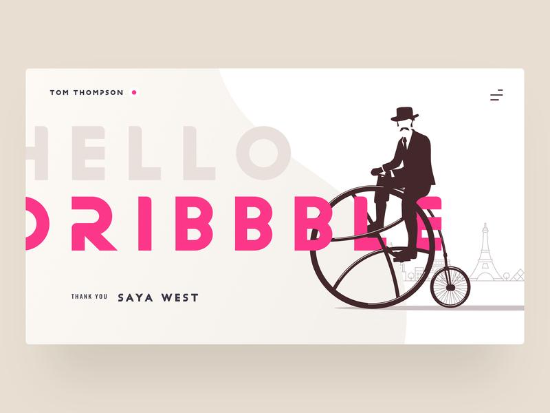 Hello Dribbble! ui debut firstshot ui  ux web design adobe xd first shot hello dribble