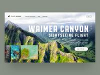 Landing page of a tour company