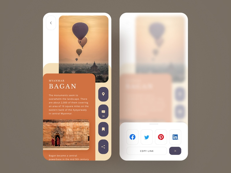 Social Share travel app social share uidesign ui  ux web design app design mobile ui mobile app adobe xd photoshop daily ui