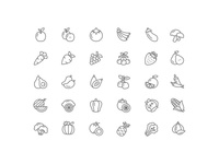 Fruits and Vegetable Icon set