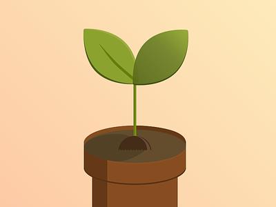 Sprout graphic design illustration