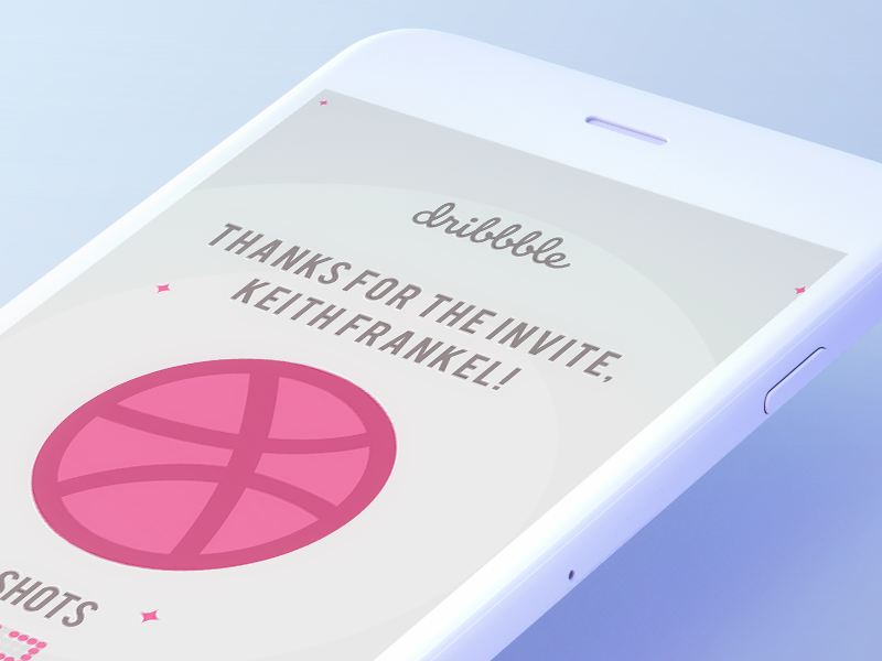 Hello Dribble! design graphic