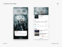 Redesign Redesigned a video app interface