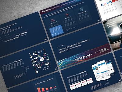 Financial Services Marketing Webinar Deck ui logo illustration presentation powerpoint pitch deck design creative direction conference branding