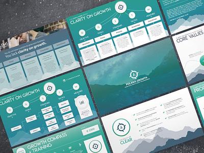 Sales Consulting Program Deck ui logo illustration presentation powerpoint pitch deck design creative direction conference branding