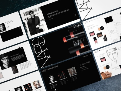 NARS Cosmetics Global E-Learning Design Vision keynote presentation powerpoint pitch deck design creative direction conference branding