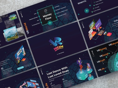 Virtual Reality Vision Deck keynote presentation powerpoint pitch deck design creative direction conference branding