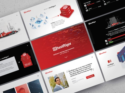 AI Software Testing Startup - Sales Deck ui logo illustration presentation powerpoint pitch deck design creative direction conference branding