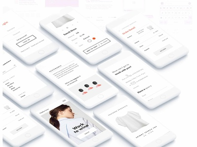 Ombrelane Women Workwear shapes girl women ui  ux brand clothers ecommerce fashion shopping apparel design interaction minimal easy app design airy