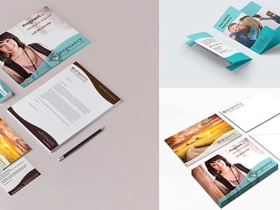 Branding - Pregnancy Resource Center of Lodi business card brochure print