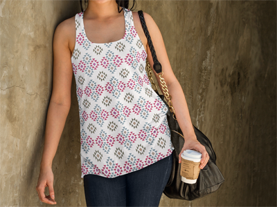 Textile design - Aztec inspired print #1
