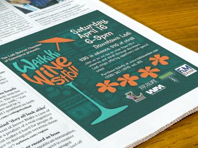 Event Promotion - Waikiki Wine Stroll advertising poster print