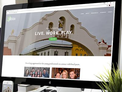 Website - Young Professionals of Lodi design web