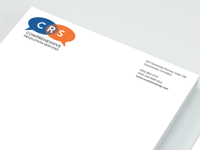 Branding - Comprehensive Resolution Services print letterhead logo