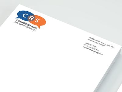Branding - Comprehensive Resolution Services print letterhead logo