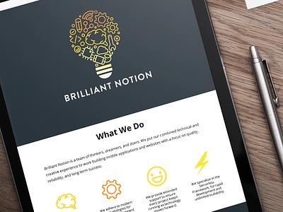 Website - Brilliant Notion design web