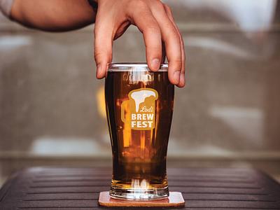 Brewfest concept logo events beer print logo
