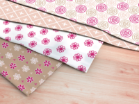 Misc textile patterns - pinks