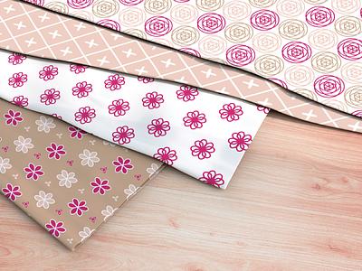 Misc textile patterns - pinks geometrics pinks fabric textiles