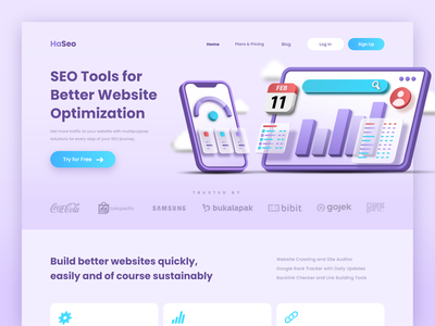 HaSeo Landing Page Exploration user experience user interface design ux ui landing page website online seo