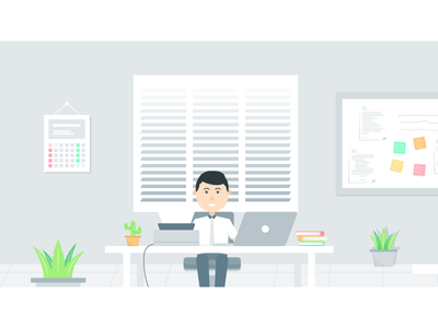 Workspace 2 office workspace illustration
