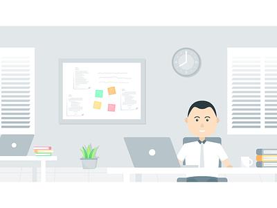 Workspace 3 office design illustration workspace