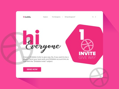 Dribbble Invite Give Way