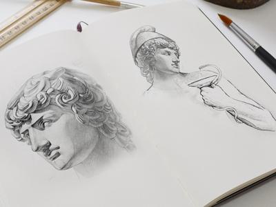 Medical Center Pencil Logo Sketches Ganymede