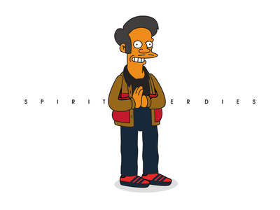 spirit casual style   Apu the simpsons illustration