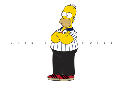 spirit casual style   homer the simpsons illustration