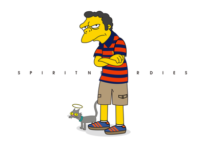spirit casual style   Moe the simpsons illustration