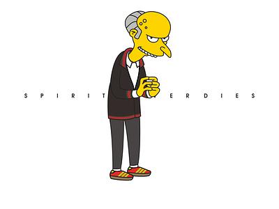 spirit casual style   mr burns the simpsons illustration