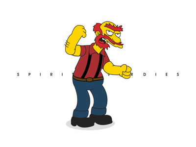 spirit casual style   willie the simpsons illustration