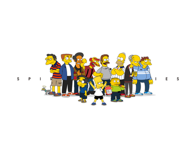 spirit casual style    all in the simpsons illustration