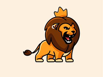 leon roar illustration logo vector lions lion