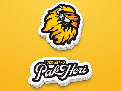 pak heri   3 vector logo design lion lions illustration