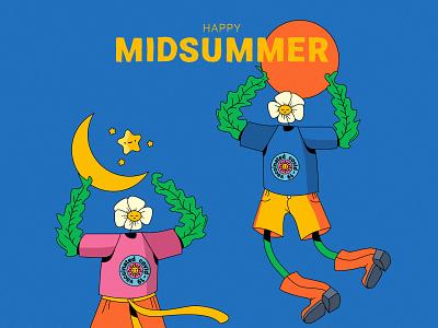 Happy Midsummer graphic design design vector 2d illustration