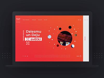 Song And Dance Celebration website celebration minimal web webdesign concept design ux ui