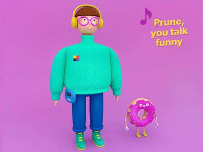 Gus Dapperton character graphic illustration maxon3d singer arnold cg donut pink toy vynil 3d 4dcinema