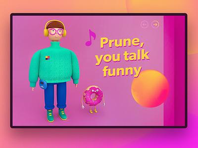 Gus Dapperton vol2 toy singer pink maxon3d donut illustration graphic character cg arnold 4dcinema 3d