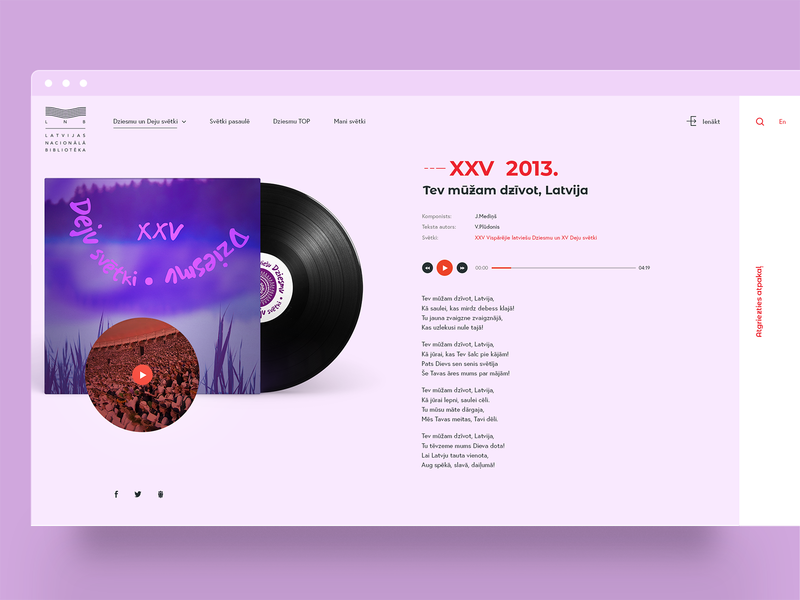 Song And Dance Celebration concept website layout minimal concept music sketch app ui ui  ux webdesign design
